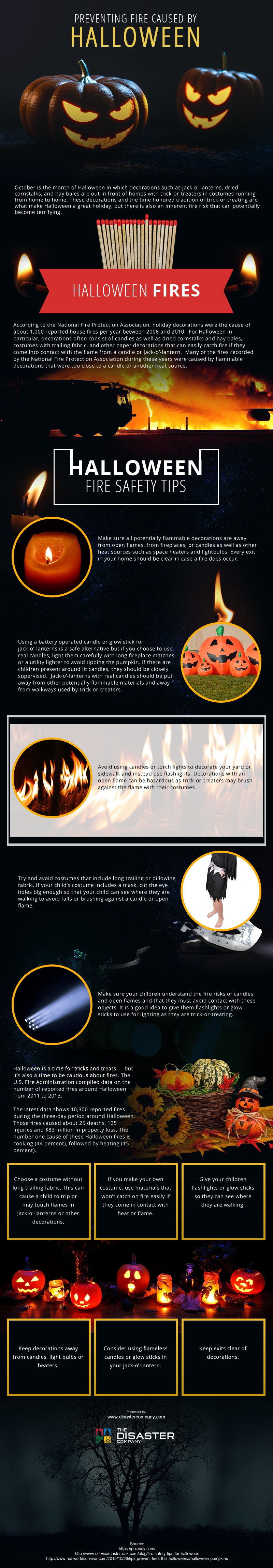 Preventing Fire Caused by Halloween [infographic]