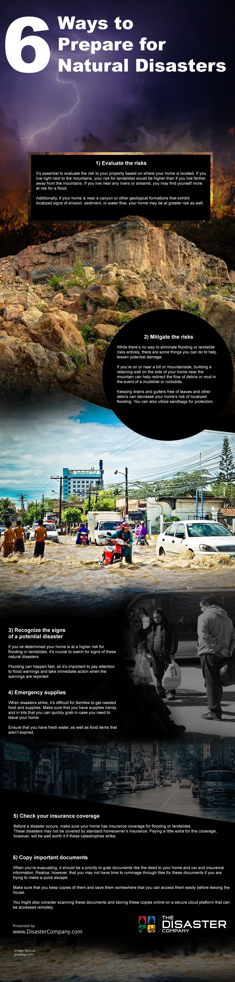 6 Ways to Prepare for Natural Disasters [infographic]